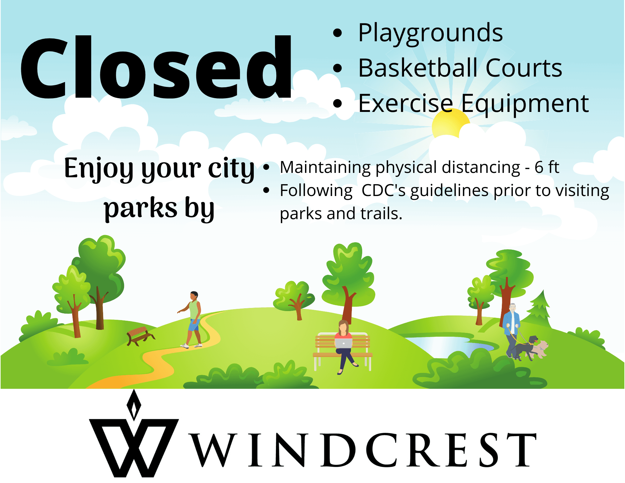 Park amenity closures
