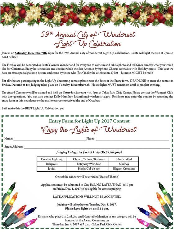 Windcrest, TX - Official Website - Windcrest Light Up